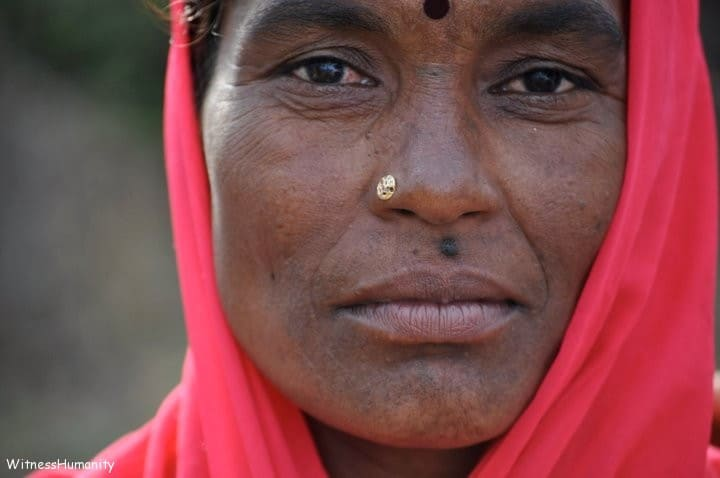 A portrait of a kind and strong tribal woman near Hyderabad