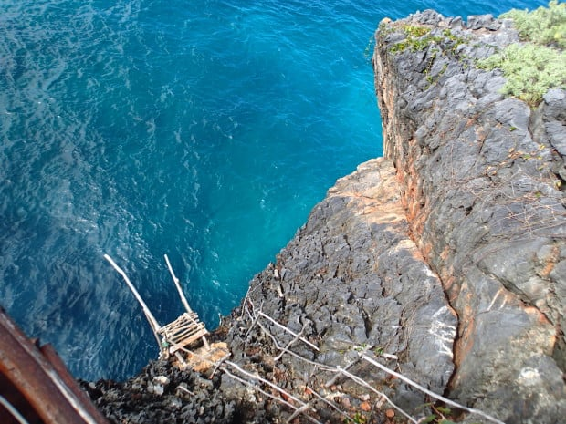 If you are up for it, you can cliff jump into the turquoise waters below El Cabito near Las Galeras. (We were NOT up for it!)