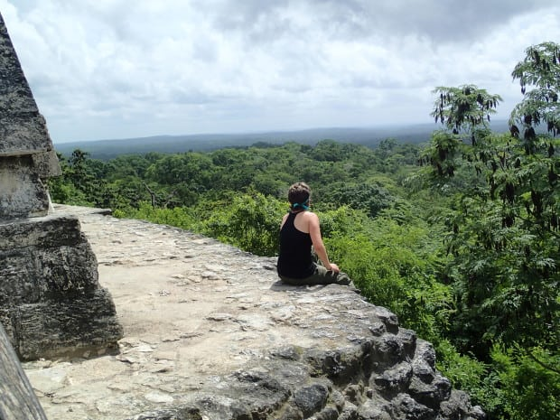 Sitting atop Temple IV will allow you to see one of the most amazing sights at Tikal.