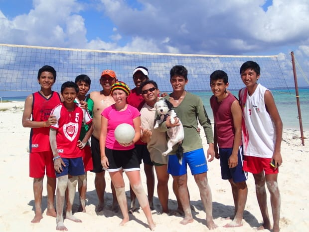 When Victoria mentioned having a hard time connecting with other young people due to the language barrier, Tina connected her with a local volleyball team so that she could make some connections with people her own age while in Mexico.