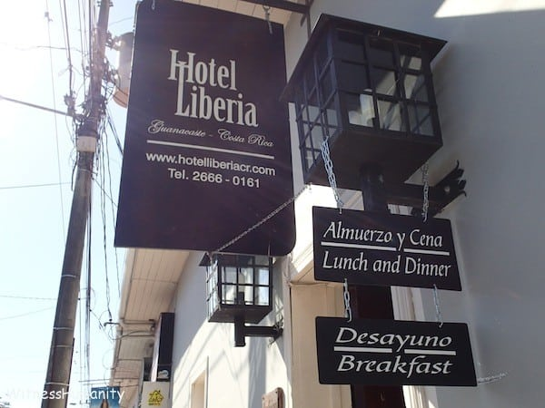 The Hotel Liberia sign as it looks today.